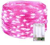 InstaLights - Fairy Lights - 40 LED´s - Roze / Pink - Inclusief 2 AA Batterijen - LED Lampjes Slinger - Werkt op Batterijen - Lichtsnoer voor Binnen en Buiten