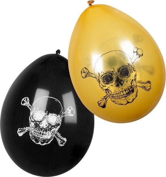 Boland - Decoratie - Piraten Latex Ballonnen Doodskop 25cm 6 stuks