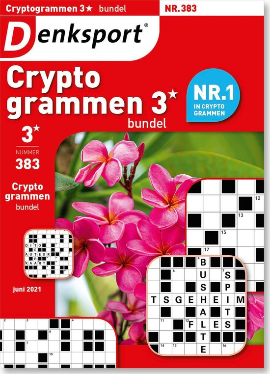 Afbeelding van Denksport puzzelboek Cryptogrammen 3* bundel, editie 383