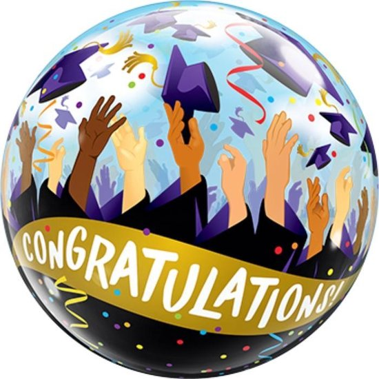 Bubbles ballon - Congratulations 56 cm