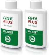2x Care Plus Deet 50% lotion 50 ml - muggenspray met deet 50% biedt tot 10 uur bescherming tegen steken en beten - Sterk anti insect middel