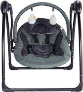 Qute schommelstoel Q-swing Zwart Frame Jeans Groen / Antra