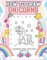 How To draw Unicorns Coloring Book for kids age 4-8