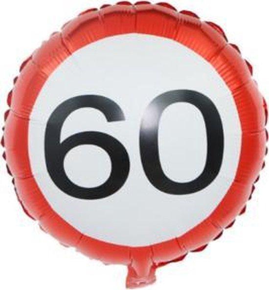 Verkeersbord Ballon 60 Jaar, kindercrea