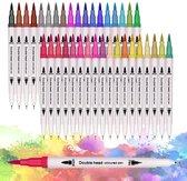 Professionele stiften voor volwassenen - 36 stuks - Brush pennen en Fineliners set - Bullet journal producten - Penseelstiften Aquarel handlettering pennen fijne dunne stiften - Fineliners Kleuren - Markeerstiften - Kleurpennen - Viltstiften