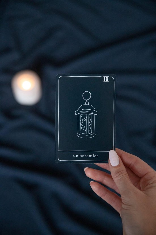 Thumbnail van een extra afbeelding van het spel Spirituele Box - Tarot Box - Tarot deck - Tarot Cheat Sheet - Inzichtkaarten - Aragoniet - Sinaasappel olie