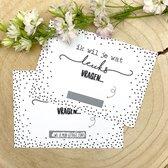 """Kraskaart """"Getuige"""" - Wil je mijn getuige zijn? - Getuige vragen bruiloft huwelijk - inclusief kraft envelop - Zwart wit"""