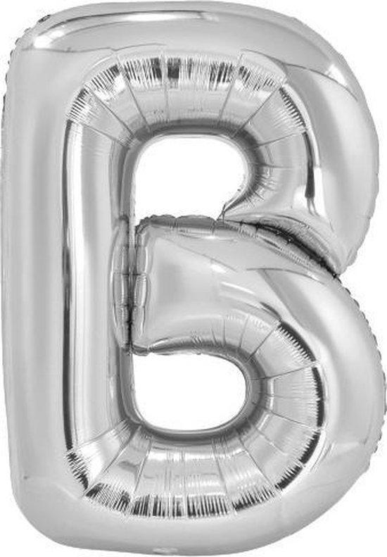 Amscan Letterballon B Folie 86 Cm Zilver