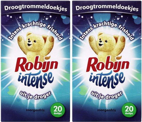 Robijn Droogtrommeldoekjes – Intense Morgenfris , 20 doekjes - 2 stuks
