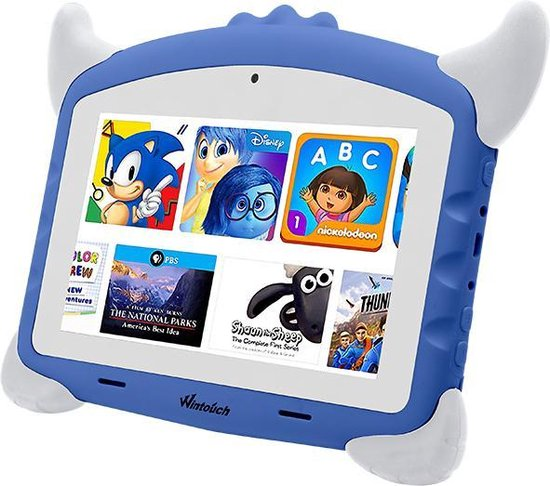 Kindertablet pro Groen - kidstablet - Disney+ Netflix - Tablet 7 inch - 32GB - 8.1 android - vanaf 2 jaar - Scherp hd beeld - leerzame tablet voor kinderen - Wifi - Bluetooth - voor-achter camera - Play store - uitstekende batterij - 1 jaar garantie
