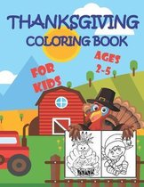 Thanksgiving Coloring Book For Kids Ages 2-5