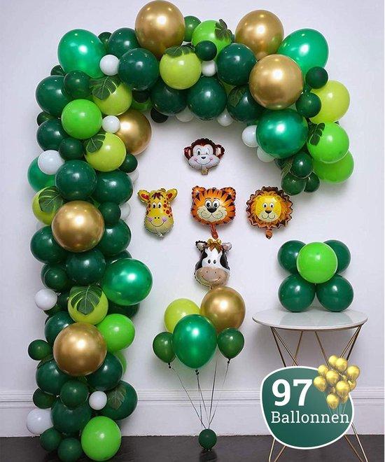 Sellaio Ballonnenboog – Jungle Safari - Ballonnen verjaardag – Versiering – Inclusief strip en pomp – Complete set – 97 ballonnen