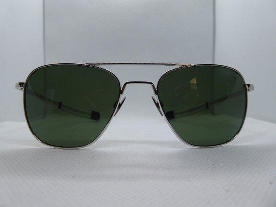 Randolph, zonnebril, model aviator, wit goud, skytec polariserend glas, af230
