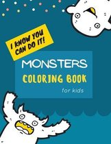 Monsters Coloring Book: Monster Coloring Book for Kids: Cute Monsters Coloring Book For kids 30 Big, Simple and Fun Designs