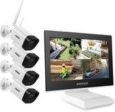 ANNKE ACS-4 N44-W - Beveiligingscamera set - Draadloos - Full HD - Met LCD Monitor