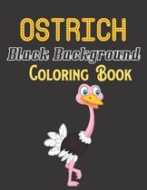 Ostrich Black Background Coloring Book