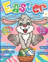 Easter Activity Book for kids ages 4-8 9-12, Word Search - Sudoku - Dot to Dot - Mazes - Coloring