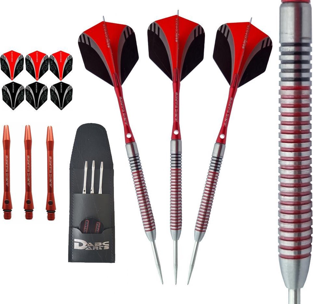 ABC Darts Professionele Dartpijlen - Red Dragonas Multi Ring - 24 gram