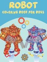 robot coloring book for boys