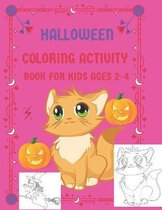 halloween coloring activity book for kids ages 2-4