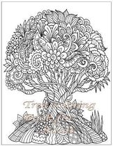 Tree Coloring Book For Adult