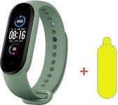 Smartwatch Dames-Smartwatch Stappenteller - Sport horloge - Smartwatch Heren- Smartwatch Kinderen- Activity Tracker - Bloeddrukmeter - Hartslagmeter - Afstandmeter - Calorieënteller - Fitness Tracker- Screenprotector- IOS & Android- Olijfgroen
