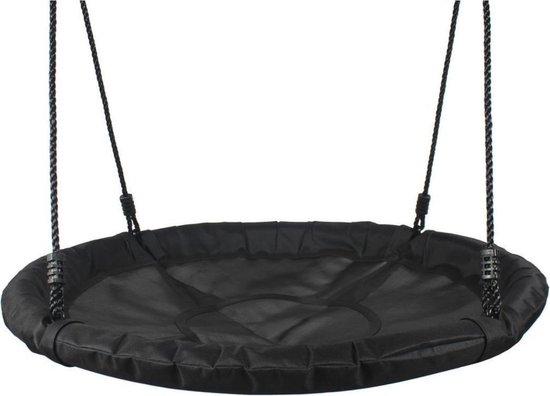 Nestschommel Zwart Ø100 cm PP touwen