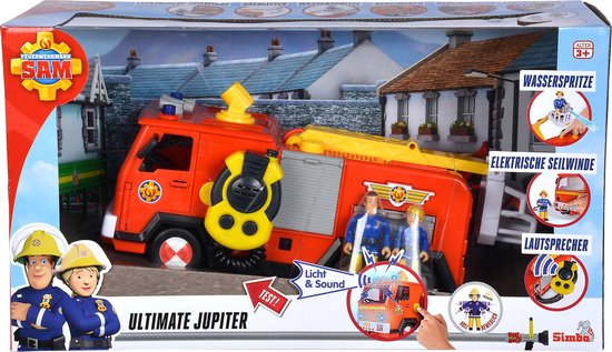 Brandweerman Sam Mega Deluxe Jupiter, 2 Figures
