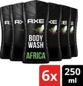 Axe Africa Douchegel - 6 x 250 ml - Voordeelverpakking