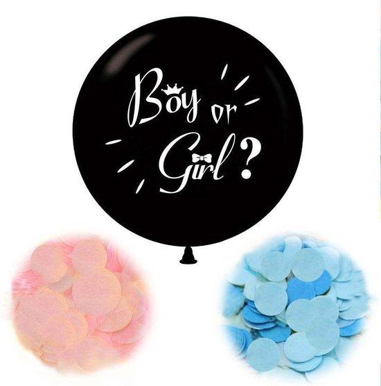 Gender Reveal Ballon Versiering - Babydouche Roze en Blauwe papieren confetti - Boy or Girl Babyshower Decoratie Baby Shower Party
