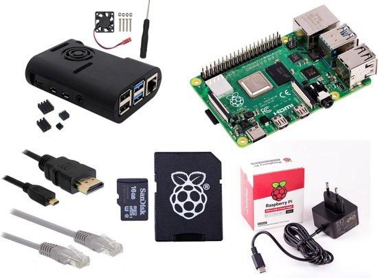Raspberry Pi 4 - 8Gb - Fan kit - 2019 - incl. heatsinks, ventilator, 16Gb SD-kaart en 3A voeding