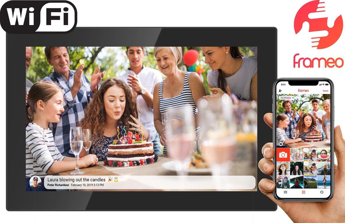 Denver PFF-1017Black 10.1 - Digitale fotolijst - fotokader - met FRAMEO software 16GB - Glazen touch