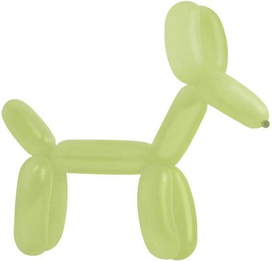 50 Modelleer Ballonnen - 130cm - Lemon Green - Lange ballonnen / Figuur ballonnen