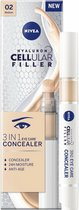 NIVEA Hyaluron Cellular Filler 3-in-1 verzorgende makeup #02 Medium oog concealer Eye Care
