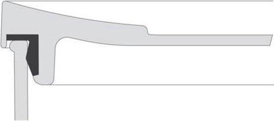 Mepal – vleeswarendoos Modula 3-laags – wit – bewaardoos met deksel – zicht op inhoud - stapelbaar – koelkastdoos