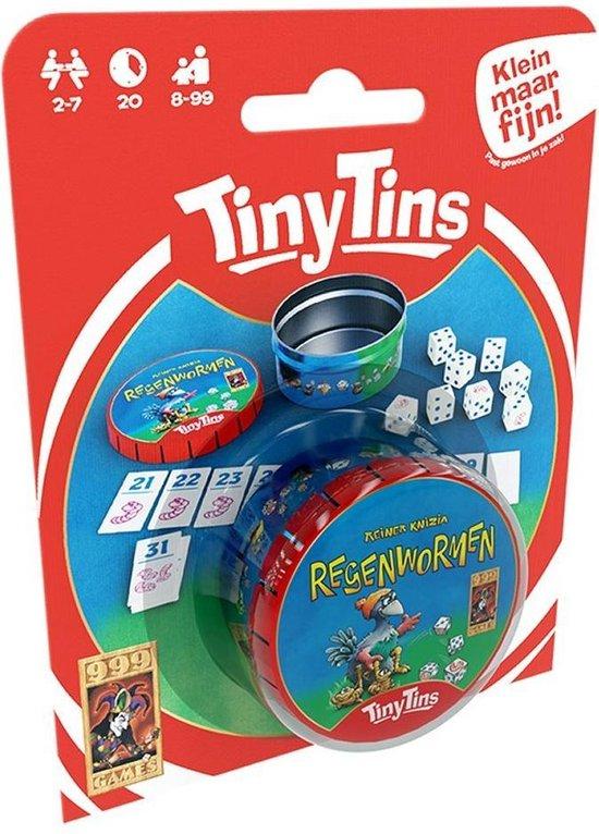 Afbeelding van het spel 999 Games Tiny Tins Regenwormen