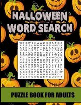 halloween search word puzzle book for adults