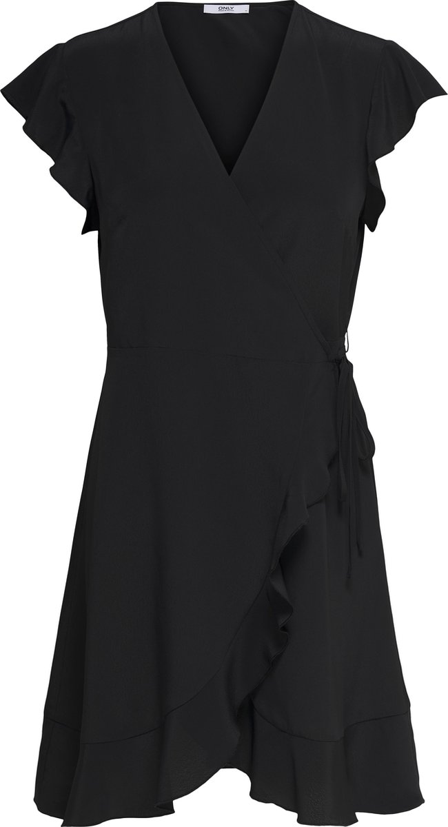 ONLY ONLSIA S/S WRAP DRESS WVN Dames Jurk - Maat M