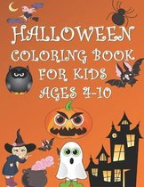 Halloween Coloring Book for Kids Ages 4-10