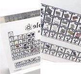 Periodiek systeem der elementen - Acrylic - versie met echte elementen - 11,4x15cm