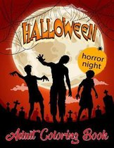 horror night: Halloween adult coloring book