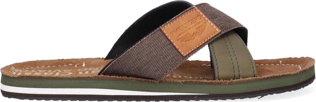 PME Haig Slippers - Heren - Cognac - Maat 44