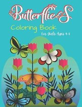 Butterflies Coloring Book For Girls Ages 4-8