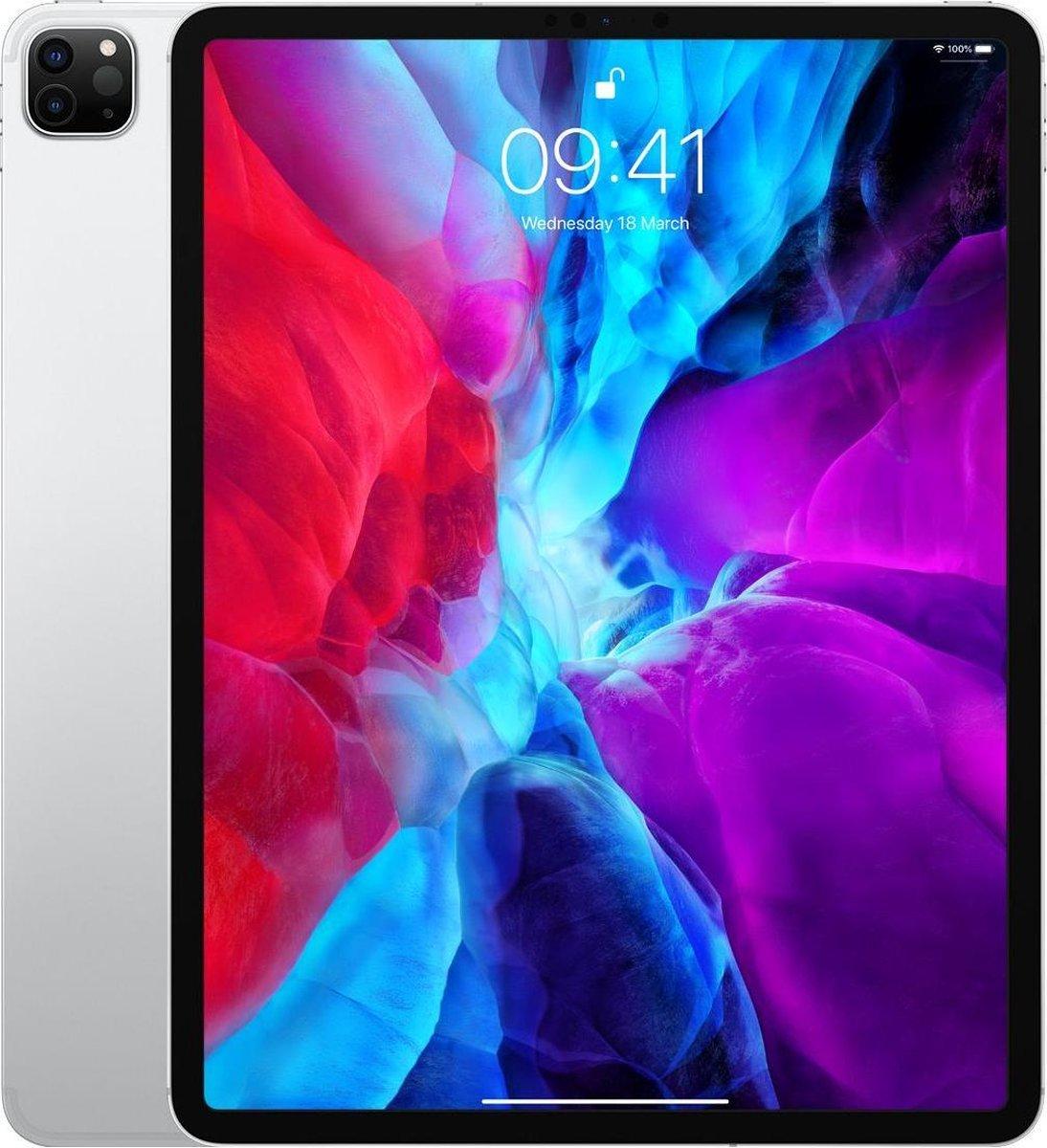 Apple iPad Pro (2020) refurbished door Adognicosto – A Grade (zo goed als nieuw) – 12.9 inch – WiFi/4G – 256GB – Zilver