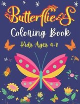 Butterflies Coloring Book Kids Ages 4-8