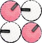 Herbruikbare Wattenschijfjes XXL Formaat - 4 Stuks - Wasbare Make-Up pads - Make Up Verwijderaar -