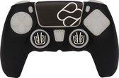 Playstation 5 Siliconen controller skin en Thumb Grips voor PS5 DualSense controller – Zwart