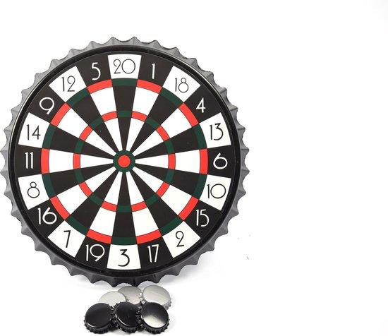 Thumbnail van een extra afbeelding van het spel  Bierdop Dartspel  Magnetisch Flessendoppendarts 7-delig - Drankspel - 23x23x2cm