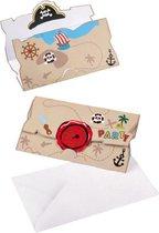 AMSCAN - 8 piraat uitnodigingen en enveloppen - Decoratie > Kaarten