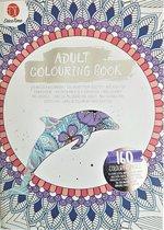 Adult Colouring Book - Deco Time - Kleurboek voor volwassenen - 160 pagina's - Wit
